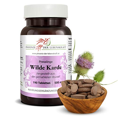 Wilde Karde Tabletten 500 mg, Tabletten, Premium Qualität, Hergestellt in Österreich, Tabletten statt Kapseln, Vegan