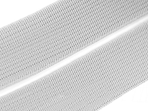 Gummiband grau 20 mm Gummizug Gummilitze Gummi Hosengummi gewebt viele Farben (20 Millimeter, 01 grau)