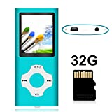Tomameri - Portable MP3 / MP4 Player with Rhombic Button, Including a Micro SD Card and Support Up to 64GB, Compact Music, Video Player, Photo Viewer Supported - White&Blue