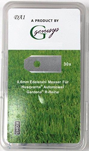 30 Automower Messer (0,6mm) für den Husqvarna Automower