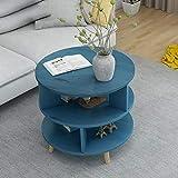 Nachttische Nachtkommode Couchtisch Wohnzimmertisch Kommode Be, Nachtindustrie Beistelltisch, Telefon Am Bett Table Beistelltisch for Schlaf- / Wohnzimmer/Flur/Bad (Color : Blue, Size :...