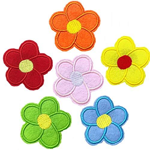 Broche con diseño de flores para ropa, bolsos, mochilas, chaquetas, sombreros, decoración, multicolor, 6 unidades