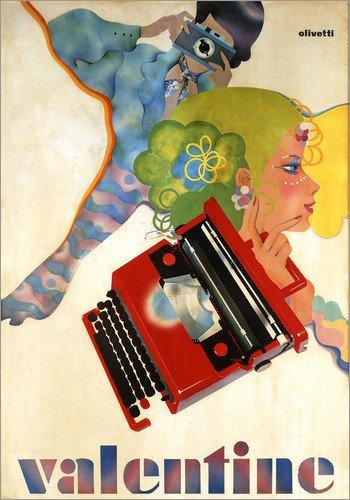 Poster 60 x 80 cm: Typewriter 'Valentine' by Olivetti di ARTOTHEK - Stampa Artistica Professionale, Nuovo Poster Artistico