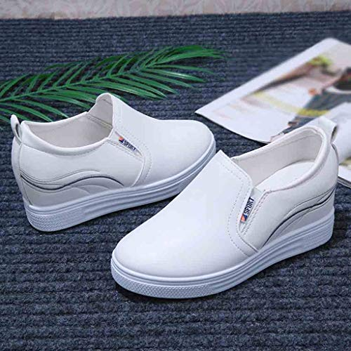 Gift Ideas! Teresamoon Fashion Increased Small White Shoes Casual Women Shoes Flat with Platform Shoes