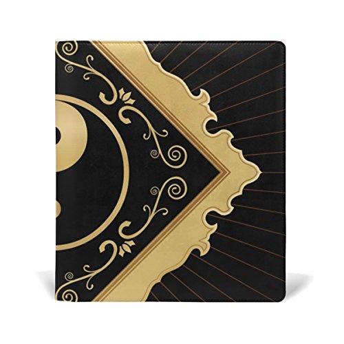COOSUN Yin Yang Buch Sox dehnbare Buchdeckel, geeignet für die meisten Hardcover Lehrbücher bis zu 9 x 11. leimlose, PU-Leder-Schule-Buch-Schutz 9-x-11-Zoll mehrfarbig