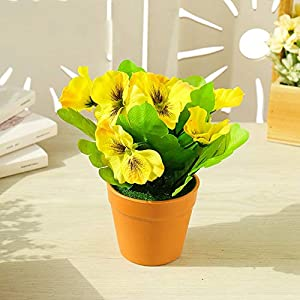 Silk Flower Arrangements Artificial and Dried Flower Simulated Pansy Bonsai Wedding Home Garden Balcony Decoration Scene Layoutphotography Props Festival Ornaments Supplies - ( Color: ZZLJ16523 )