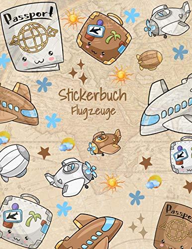 Stickerbuch Flugzeuge: Stickeralbum leer, Sticker Sammelalbum, extradickes Stickerheft Luftballons
