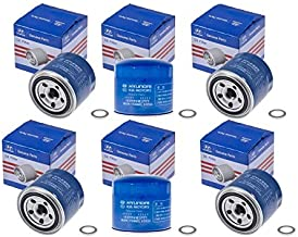 Genuine OEM For Hyundai/Kia Oil Filter 26300-35505- 26300-35504 & Plug Gasket (6)