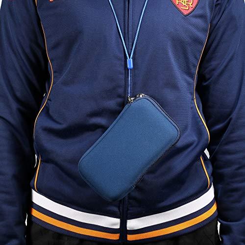 GUOQING Funda de neopreno para teléfono móvil, 5.4 pulgadas, universal, con cremallera, para iPhone 12 Mini, SE 2020, 11 Pro, XS, X, 8,6, (correa para el cuello) (color: azul)