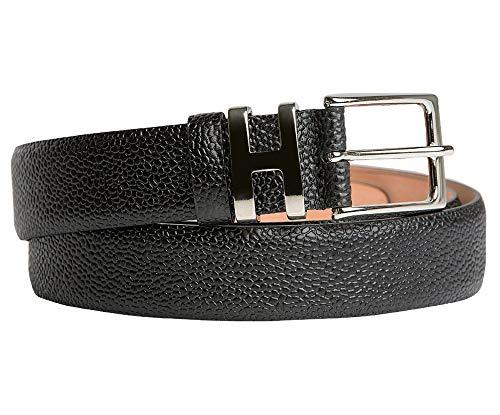 Handmacher Leder-Gürtel für Herren in Schwarz, Scotch-Leder, Länge 95 cm