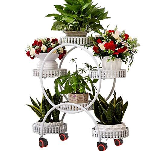 Support de fleur avec étagère de rangement de jardin à disque de frein en métal pour 6 pots de fleurs pour plantes Support de décoration de balcon pour terrasse de jardin