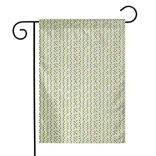Eastlif Garten-Flaggen-Zusammenfassung im Freien, die Kreise in den grünen und grauen Schatten abstraktes symmetrisches Fliesen-pflegeleichtes grünes hellgraues Weiß überschneidet