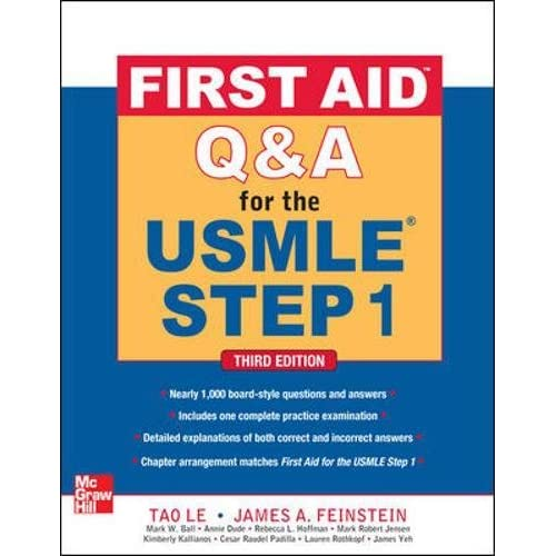 First Aid Q A For The Usmle Step 1 Third Edition First Aid Usmle