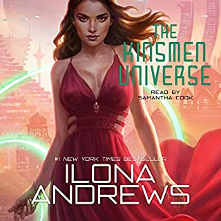 The Kinsmen Universe                   Written by:                                                                                                                                 Ilona Andrews                               Narrated by:                                                                                                                                 Samantha Cook                      Length: 7 hrs and 15 mins     5 ratings     Overall 4.4