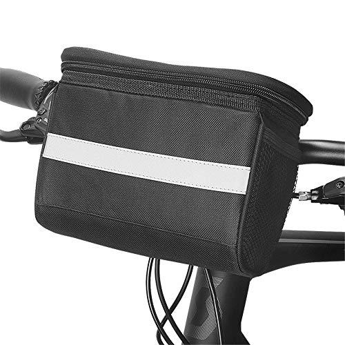 Bike Handlebar Bag Bicycle Front Handlebar Bag Bicycle Basket Bicycle Storage Basket Bag Riding Accessory Bag for Road MTB Outdoor (Color : Black, Size : 2L)