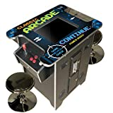 Creative Arcades Full Size Commercial Grade Cocktail Arcade Machine | 2 Player | 412 Games | 22' LCD Screen | Square Glass Top | 2 Sanwa Joysticks | 2 Stools Included | 3 Year Warranty