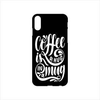Fmstyles - iPhone X Mobile Case - Coffee is hug in a mug