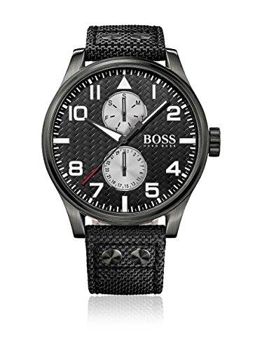 Men's Black Hugo Boss Aeroliner Day and Date Watch 1513086