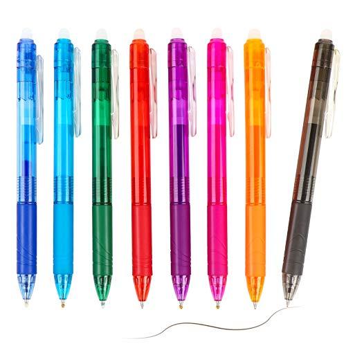 Radierbarer Kugelschreiber, 8 Stück 0.7mm Einziehbare Löschbare Gel-Tintenschreiber, Löschbare Gel Ink Pens für Kinder Studenten Schule Büromaterial (B)