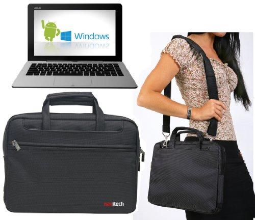 Navitech Schwarzes Ultrabook/Laptop/Notebook Hülle Cover Tasche für das Asus Transformer Book Duet TD300 / Asus Transformer Book 2 Trio TX201 / Asus X102