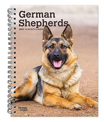 German Shepherds 2021 6 x 7.75 Inch Spiral-Bound Wire-O Weekly Engagement Planner Calendar | New Full-Color Image Every Week | Animals Dog Breeds Pets (English, French and Spanish Edition)