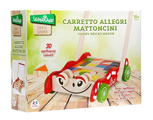 Globo Toys 36580 Legnoland sympathique Briques Waggon
