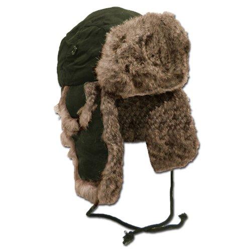 MFH - Cappello in pelliccia per sci, invernale, colore: Nero/Marrone marrone L