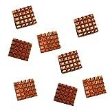 com-four® 8X Passiv Kühlkörper aus Kupfer für Raspberry Pi Modell A + B und Pi 2, 3, 4 - Passivkühlung zum Aufkleben 12 x 13 mm (08 Stück - Kupfer)