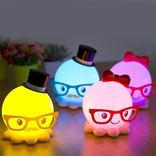 Bazaar LED Usb mignon nuit de poulpe lumière d'économie d'énergie chambre de bébé cadeau de la lampe