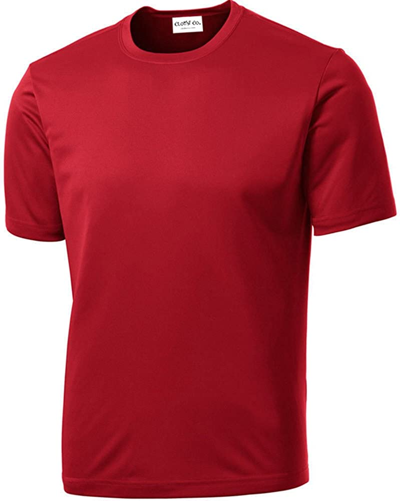 Clothe Co. Men's Short Sleeve Moisture Wicking Athletic T-Shirt