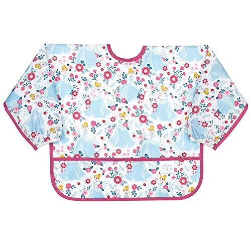 Bumkins Sleeved Bib Disney Baby Bib / Toddler Bib / Smock, Waterproof, Washable, Stain and Odor Resistant, 6-24 Months – Cinderella