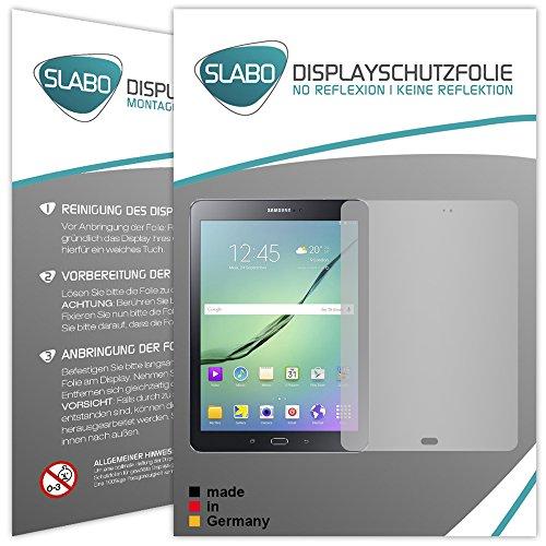 Slabo 2 x Bildschirmschutzfolie Kompatibel mit Samsung Galaxy Tab S2 9.7 (SM-T813) (SM-T819) Bildschirmschutz Schutzfolie Folie No Reflexion | Keine Reflektion MATT