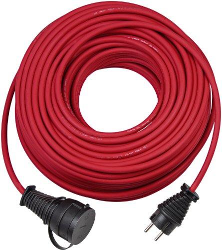 Brennenstuhl hoogwaardige rubberen verlengkabel IP44 25 m, rood, H05RR-F 3G1.5 1161460