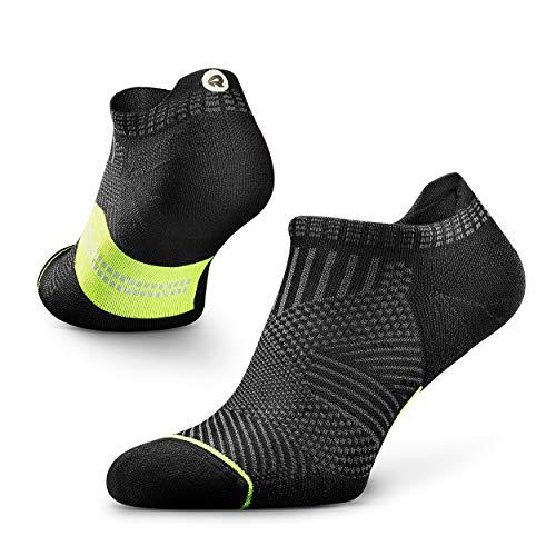 ROCKAY Accelerate - Calcetines Deportivos con Talón de Compresión para Hombres y Mujeres, Running, Anti-ampollas y con Soporte de Arco (1 par) ⭐