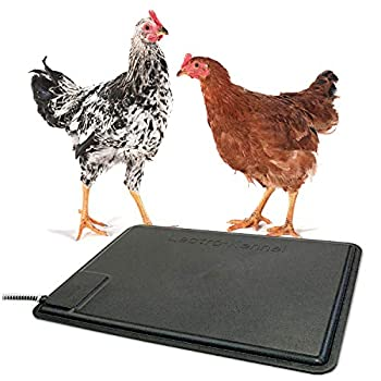K&H PET PRODUCTS Thermo-Chicken Heated Pad, Black, 12.5 Inches X 18.5 Inches