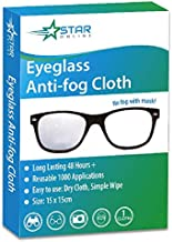 Anti-Fog Eyeglass Cloth - Long Lasting for 48 Hours - Cleaning Cloth for Camera Lenses and Tablets - Reusable Up to 1000 Applications