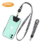 SHANSHUI Phone Lanyard, Neck Strap and Wrist Tether Key Chain Holder Universal Phone Case Anchor for Protection Compatible with iPhone, Samsung Galaxy and All Smartphones - White Cheetah