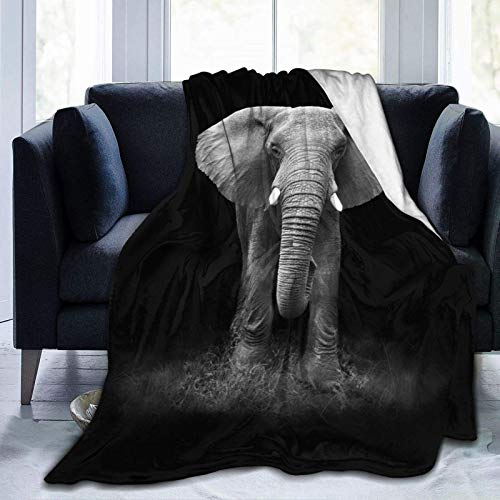 Manta de elefante, diseño de mandala de animales de estilo indio, regalo de forro polar, para mujeres y adultos, para el hogar, sofá de 156 x 150 cm