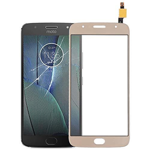 ZHANGJIALI Teléfonos Móviles Piezas de Repuesto Pantalla de Panel táctil de Cristal digitalizador reemplazo de Panel táctil for Motorola Moto G5 Plus (Negro) (Color : Gold)