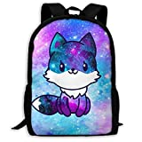 3d Animal Print Backpack Cute School Bag Galaxy Fox Bookbags For Girls Boys High School And College