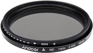 Andoer 49mm ND Fader Neutral Density Adjustable ND2 to ND400 Variable Filter for Canon Nikon DSLR Camera