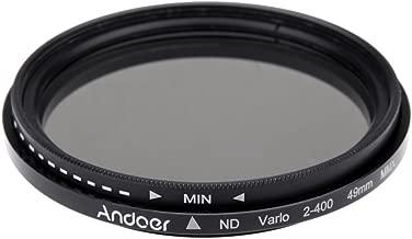 Andoer   49mm Fader Neutral Density Adjustable ND2 ND400 Variable Filter for Canon Nikon DSLR Camera