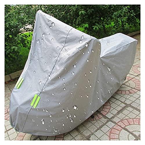 Lanxing Funda para Muebles Motocicleta Cubierta Impermeable al Aire Libre, Fresco Color Plata Diseñado for el Verano con reflexivo de Gaza 183x89x122cm Mesa y sillas Jardin terraza