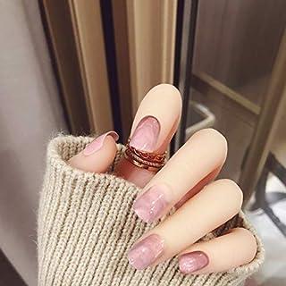 新作 24枚 ぼかしネイルチップ 大理石の模様 披露宴つけ爪 直接貼るネイルチップ ショートタイプ むら染デザイン