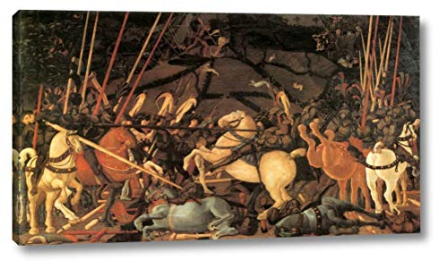 "Bernardino Della Ciarda Thrown Off His Horse by Paolo Uccello - 11"" x 20"" Gallery Wrap Canvas Art Print - Ready to Hang"