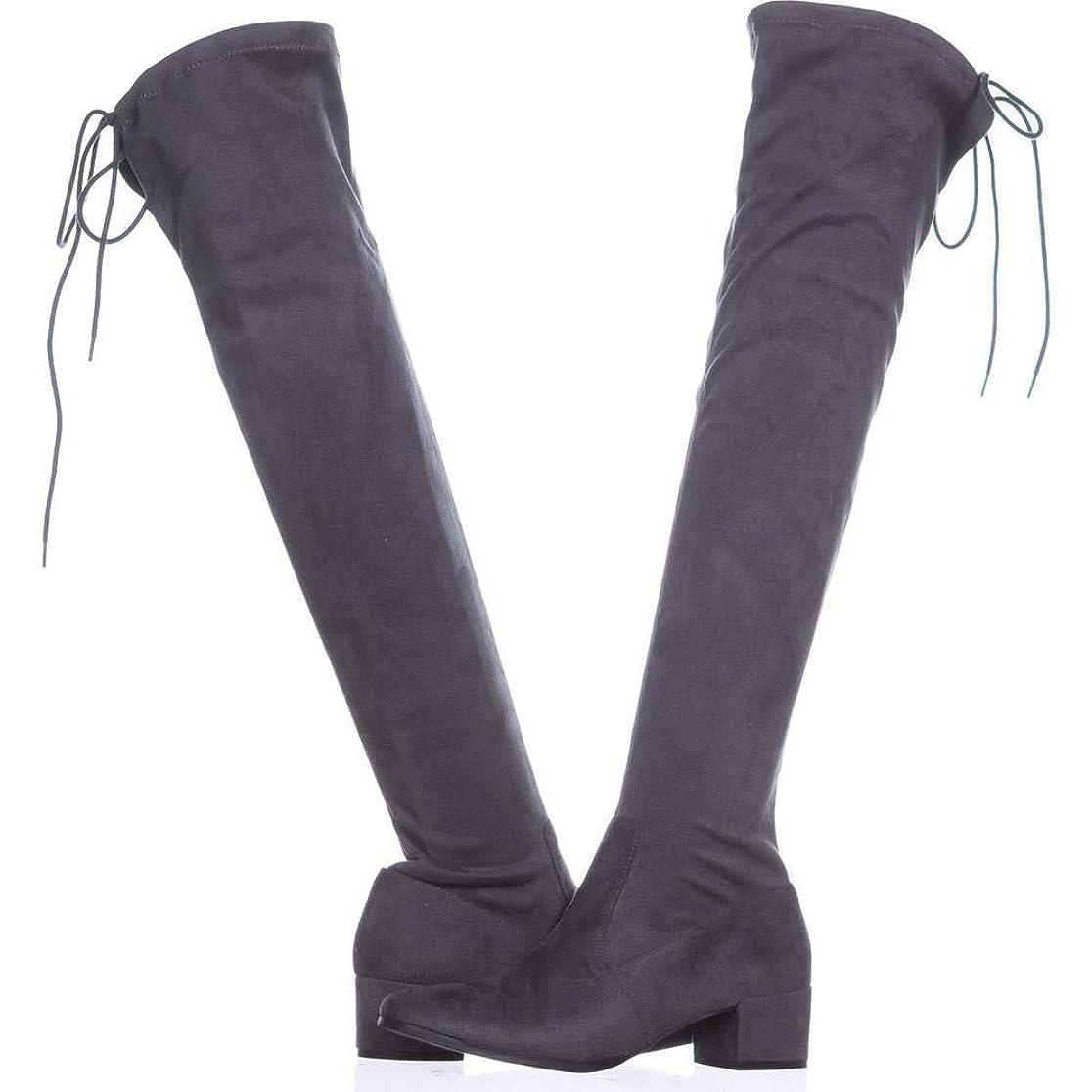 ビジュアルはさみリンク[チャイニーズランドリー] Womens Mystical Suede Almond Toe Knee High Fashion Boots [並行輸入品]