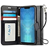 J&D Compatible para Huawei Mate 20 Lite Funda, [Protección de Cartera] [Soporte Plegable] Funda Pesada Resistentes Billetera para Huawei Mate 20 Lite Funda Cuero - Negro