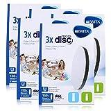 BRITA MicroDisc - Filtro de agua (3 unidades) - Apto para botellas de filtro de agua BRITA fill&go y jarras de filtro de agua BRITA fill&serve (5 unidades)