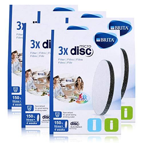 BRITA MicroDisc Wasserfilter 3stk. - Passend für BRITA fill&go Wasserfilter-Flaschen und BRITA fill&serve Wasserfilter-Karaffen (5er Pack)