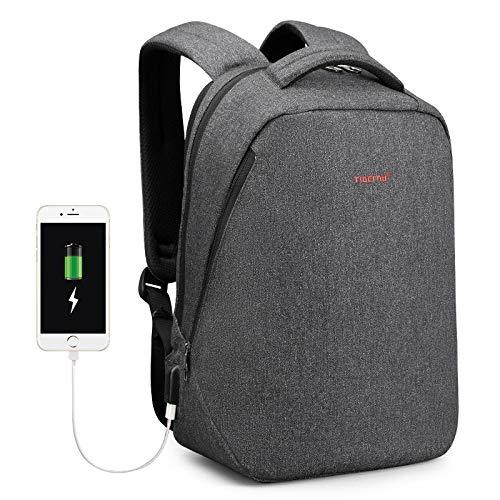 Backpack Rucksack Laptop Bag Brand Usb Charging Backpacks Men Light Slim Minimalist Fashion Women Backpack School Bag 14'- 17' Laptop Backpack 15.6Inch Blackgrey